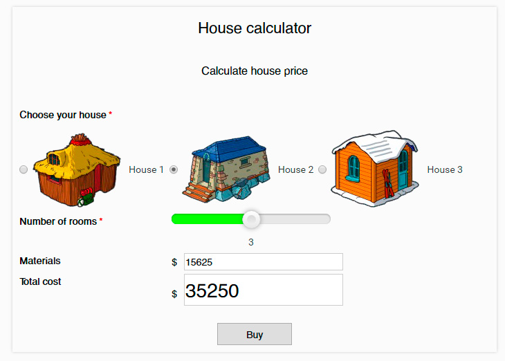 Form calculator demo